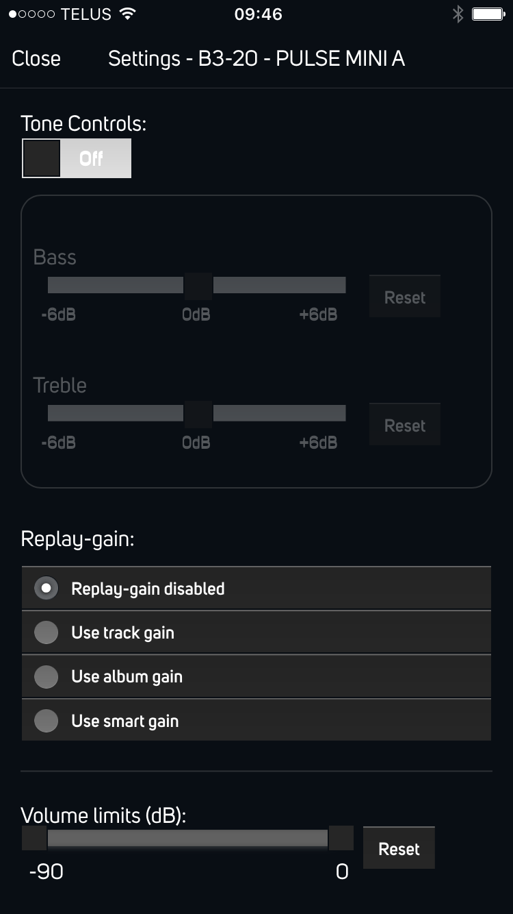Easier To Find Audio Settings Bluesound Help Center Hi Fi Tone Control Notes