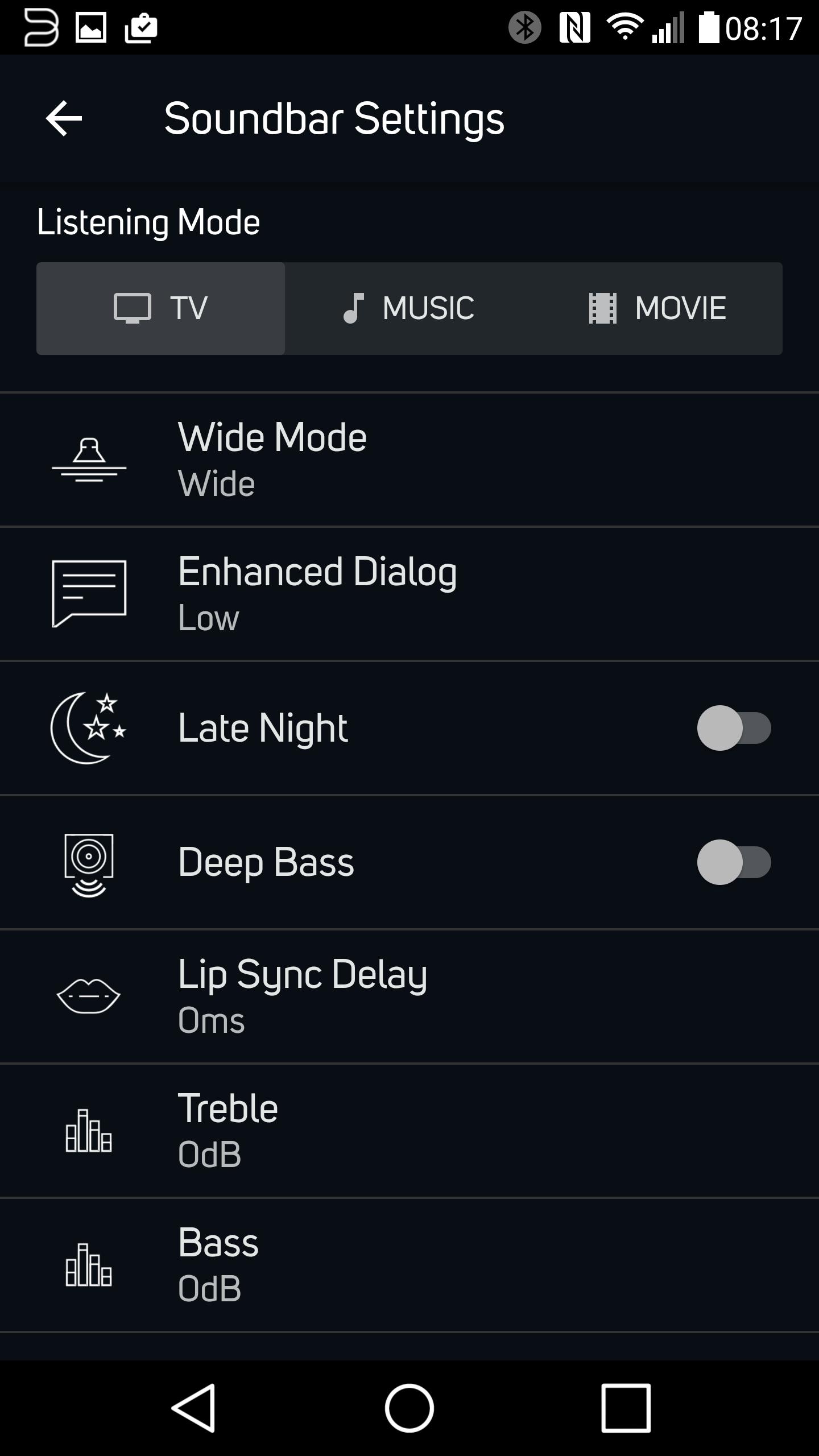 Adjusting PULSE SOUNDBAR Lip Sync & Audio Settings – Bluesound Help